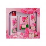 Подарочный набор Rose of Bulgaria № 2 (Натуральная розовая вода с пульвериз. 230мл, Мыло с частицами лепестков роз 100г, Крем для рук 75мл)